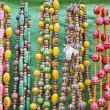 Colorful jewelry in India street market - Stock Photo