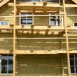 Stock Photo: Wooden house exterior thermal insulation with mineral rockwool