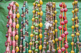 Colorful jewelry in India street market — Stock Photo