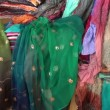 Stock Video: Colorful Kashmir silk in Indimarket