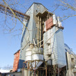 Stock Photo: Industrial grain Processing Facility in winter time