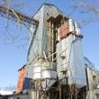 Industrielle Getreideverarbeitung Anlage im winter — Stockfoto