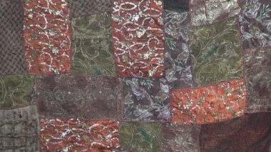 印度布装饰背景 — 图库视频影像