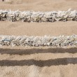 Sea beach rope fence fragment — Stock Photo