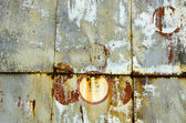 Old and grunge metal tin painted background — Stock Photo