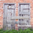 Old brick wall and door — Stock Photo #26495487