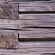 Old rural wooden house log wall  — Stockfoto