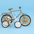 Two bicycle model toy on blue background — Stock Photo