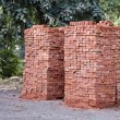 Stock Photo: Red clay bricks stacks in Amritsar,India