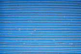 Blue metal shop door background — Stock Photo