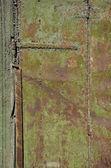 Old used metal door background — Stock Photo
