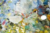 Herramienta de pintor colorida paleta para pintura — Foto de Stock