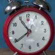 Classic old  red alarm clock  arrow motion — Stock Video #35711671