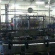 Stock Video: Beer factory brewery construction and bottle line