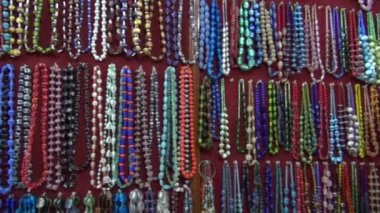 Various beautiful indian jewelry collections in market, India — Stock Video