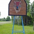 Stock Photo: Old rural basketball hoop backboard