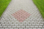New pavement bricks background — Stock Photo