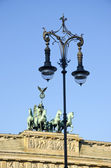 Brandenburg gate in Berlin and decorative lamp — Foto de Stock