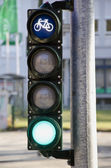 City traffic lights in street — Stock Photo