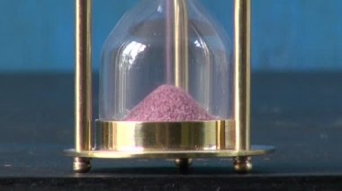 Sand motion  in Hourglass, sandglass, sand clock — Video Stock