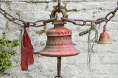 Bells near temple wall in Nepal — Stock Photo