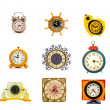 Ancient clock collection isolated on white — Foto Stock #50154587