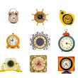 Ancient clock collection isolated on white — Foto de Stock   #50154587
