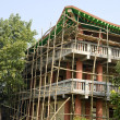 Wooden bamboo scaffold in Lumbini, Nepal — Stock Photo #51042595