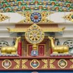 Buddhist symbols art on temple in Lumbini, Nepal — Stock Photo #51043921
