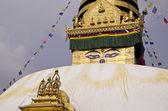 Budhhist Swayambhunath Stupa Monkey temple in Kathmandu, Nepal. — Stock Photo