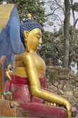 Statue of Buddha at  Swayambhunath  monkey Temple in Kathmandu, Nepal. — Stock Photo