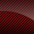 Red glossy carbon fiber background or texture — Stock Photo