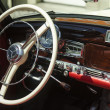 Interior details of classic retro car — Stock Photo
