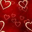 Valentines hearts seamless background - Stock Photo