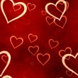 Stock Photo: Valentines hearts seamless background