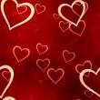 Valentines hearts seamless background — Stock Photo