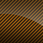 Golden glossy carbon fiber background or texture — Stock Photo