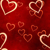 Valentines hearts seamless background — Stock Photo