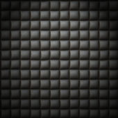 Black leather background or texture — Stock Photo