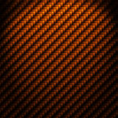 A realistic cooper carbon fiber weave background or texture — Stock Photo