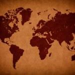 Old vintage world map — Stock Photo