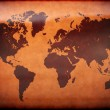 Stock Photo: Old vintage world map