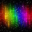Abstract multicolor disco lights mosaic background — Stock Photo