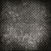 Grunge metal diamond plate background or texture — Stock Photo
