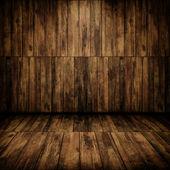 Grunge kabin iç ahşap duvar ve zemin ile — Stok fotoğraf