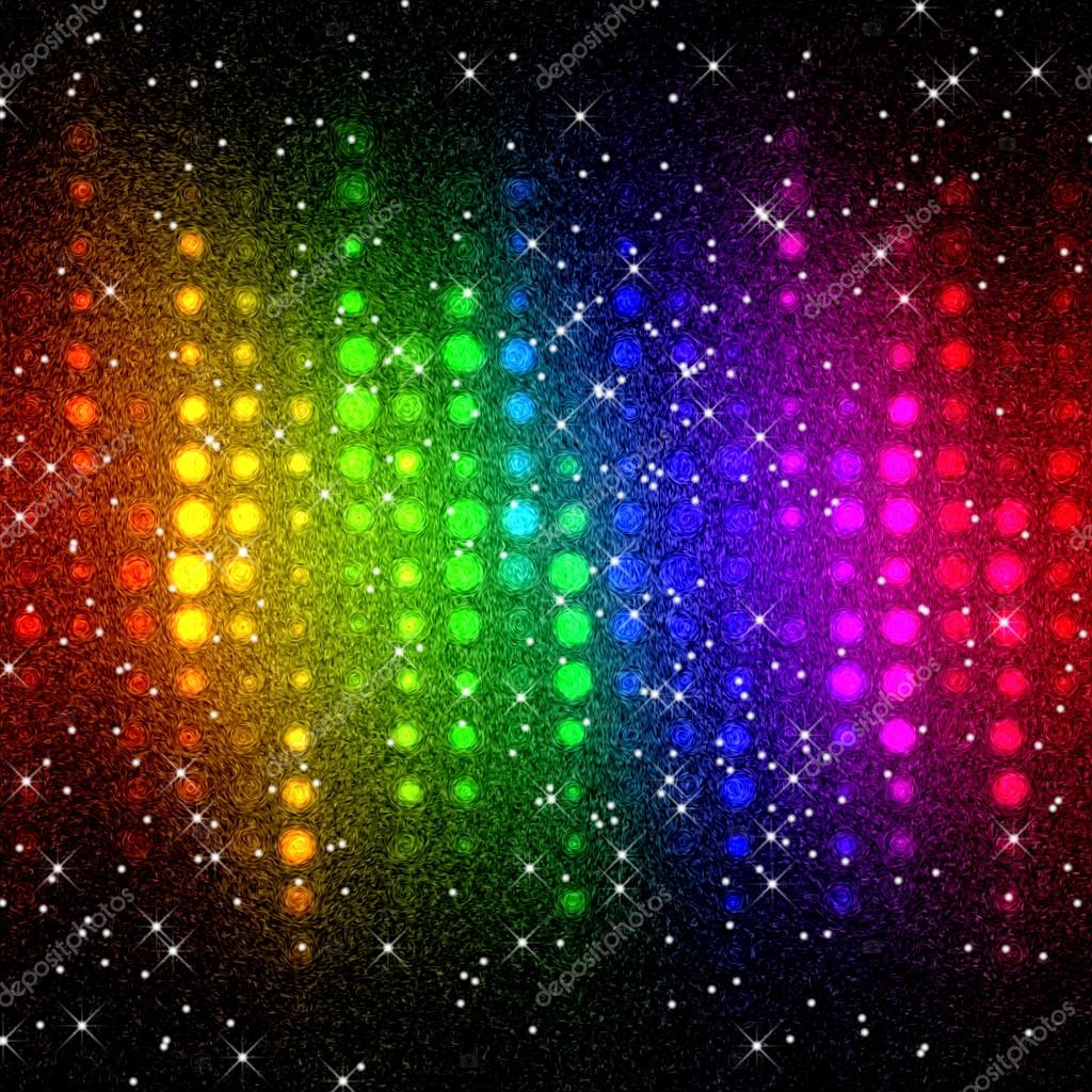 Abstract multicolor disco lights mosaic background stock - Club lights wallpaper ...