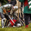 Stock Photo: CHORZOW,POLAND, JUNE 9: Defeated knight during IV Convention o