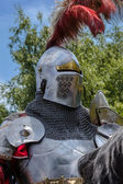 CHORZOW,POLAND, JUNE 9: Medieval knight during a IV Convention o — Stock Photo