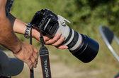 Ricognitore aereo con fotocamera — Foto Stock