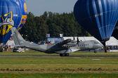 Polish CASA C-295, a twin-turboprop tactical military transport  — Stock Photo
